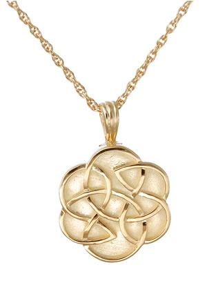 Gold Celtic Flower Jewelry Urn