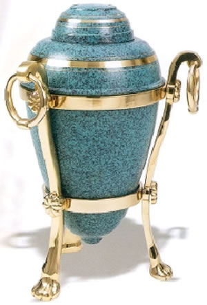 Single or Companion Patina Cremation Urn