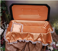 Plush Small Black/Gold Pet Casket