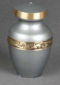 Classic Grey Brass Keepsake Cremation Urn