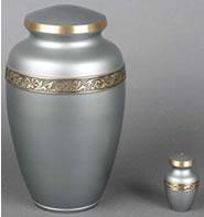 Classic Grey Brass Cremation Urn