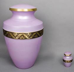 Lilac Brass Cremation Urn