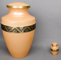 Apricot Brass Cremation Urn