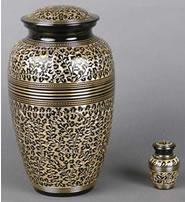 Elegante Brass Cremation Urn