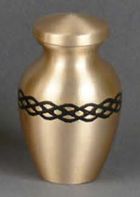 Empress Brass Keepsake Cremation Urn