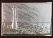 Lighthouse Hand Painted Sterling Silver Applique