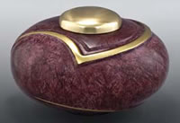 Burgundy Luce Brass Cremation Urn