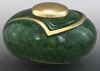 Emerald Luce Brass Cremation Urn
