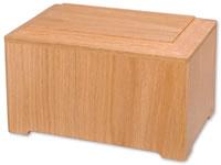Simplicity Oak Cremation Urn