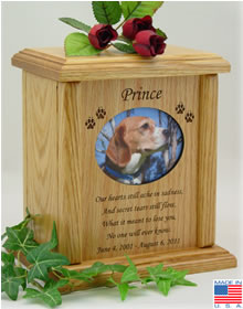 Oval Photo Frame with Poem Pet Cremation Urn