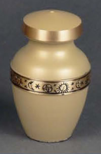 Zodiac Brass Keepsake Cremation Urn