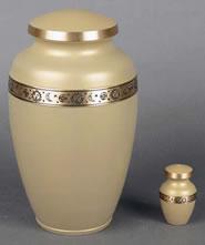 Zodiac Brass Cremation Urn