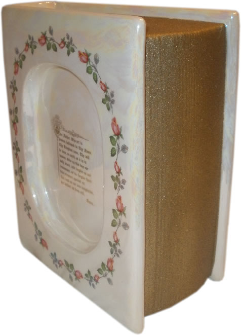 Lords Prayer Bible Cremation Urn