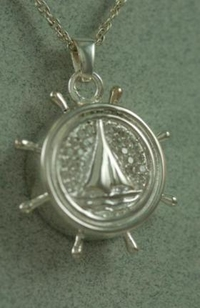 Boat wheel Cremation Urn pendant