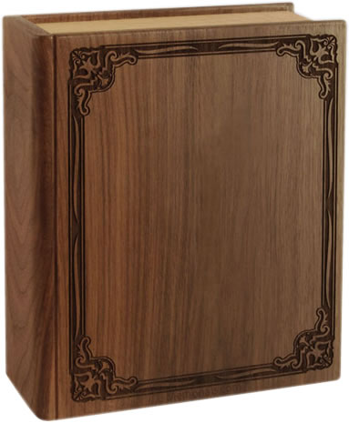 Wood Book Cremation Urn