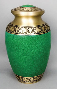 Green Brass Alexa I Cremation Urn