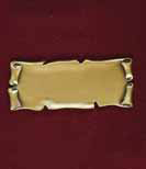 Scroll Brass Nameplate