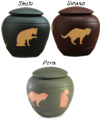 Cat Cremation Urn silhouettes