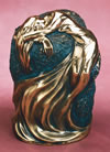 Heather Sculpted Bronze Cremation Urn