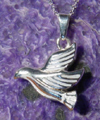 Dove Flying Cremation Urn Pendant