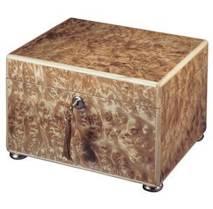 Elm Burl over hardwood Memory Chest Cremation Urn