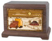 Farm to Market Wood Cremation Urn