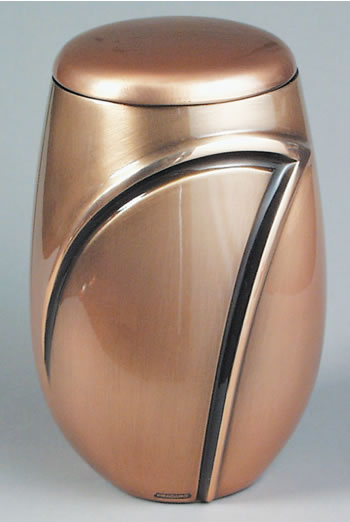 Wave I Cast Bronze Cremation Urn