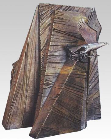 Windsong Eagle Bronze Cremation Urn