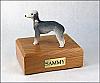Bedlington Terrier Standing Dog Figurine Cremation Urn