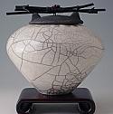 Satomi Raku Ceramic Cremation Urn