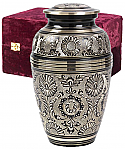 BlackGold with Rings Cremation Urn