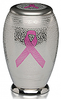 A Pink Ribbon Brass Cremation Urn