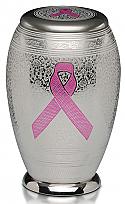 A Pink Ribbon Brass Cremation Urn