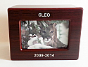 Wooden Pet Photo Cremation Urn Cherry
