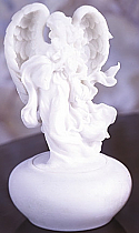 Angel Holding Cross Keepsake Urn