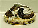 Custom Painted Angel Winged Kitty Cremation Urn