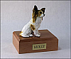 Papillon, Brown Sitting Dog Figurine Cremation Urn