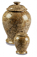 Vase Style Earth Marbled Cremation Urns