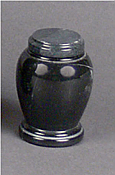 Black Marble Keepsake Cremation Urn