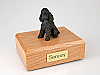 Poodle, Black - sport cut Dog Figurine Urn