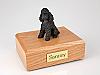 Poodle, Black - sport cut Dog Figurine Cremation Urn
