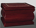Lacquered Shaped Wood Chest Style Cremation Urn