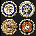 Cast Stone Military Medallions