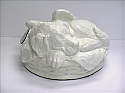Angel Winged Puppy Cremation Urn White