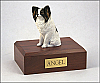 Papillon Sitting Dog Figurine Cremation Urn