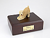 Soft Coated Wheaten Dog Figurine Cremation Urn