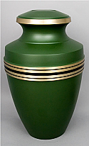 Laurel Green Brass Cremation Urn