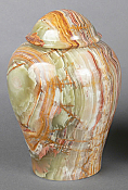 Rust and Green Onyx Cremation Urn