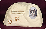 Stone Picture Frame Urn for Cat