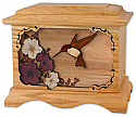 Hummingbird III Wood Cremation Urn